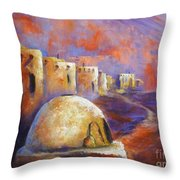 The Horno At Acoma Throw Pillow