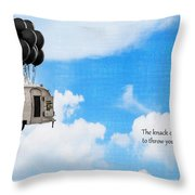 The Knack Of Flying Throw Pillow by Edward Fielding