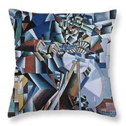 The Knife Grinder Throw Pillow