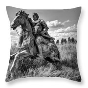 The Knight Goes Forth Throw Pillow by Daniel Hagerman