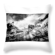 The Knight Of Freedom Throw Pillow