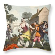 The Knight Submits To Trulla Throw Pillow
