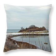 The Knob - Quissett - Cape Cod Throw Pillow