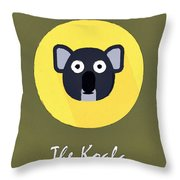 The Koala Cute Portrait Throw Pillow