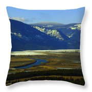The Kootanie River In Bonners Ferry Idaho Throw Pillow
