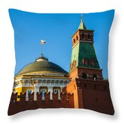 The Kremlin Senate Building - Square Throw Pillow