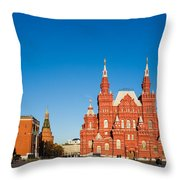 The Kremlin Towers And The State Museum Of Russian History Throw Pillow