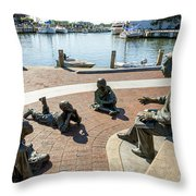 The Kunta Kinte-alex Haley Memorial In Annapolis Throw Pillow