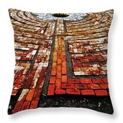 The Labyrinth Of St Luke's  Throw Pillow