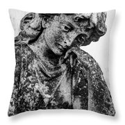 The Lady In Mourning 03 Bw Throw Pillow
