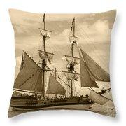The Lady Washington Ship Throw Pillow