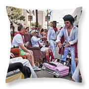 The Laissez Boys At Running Of The Bulls In New Orleans Throw Pillow