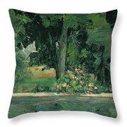 The Lake At Jas De Bouffan, C.1873-76 Throw Pillow