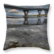 The Lake Champlain Bridge From Cown Point Throw Pillow