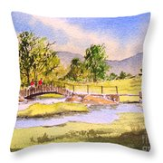 The Lake District - Slater Bridge Throw Pillow
