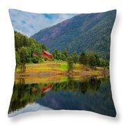 The Lake House Norway Throw Pillow