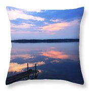 The Lake Is A Mirror Throw Pillow