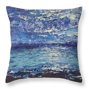The Lake On A Cloudy Day In October Throw Pillow
