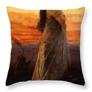 The Lament Of Jephthahs Daughter Throw Pillow