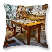 The Lamp And The Chair Throw Pillow by Paul Ward