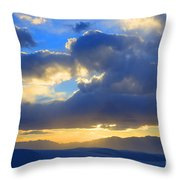 The Land Of Enchantment Throw Pillow by Bob Christopher