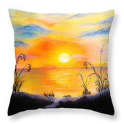 The Land Of The Dying Sun Throw Pillow