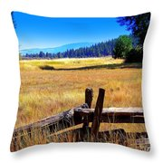 The Land With A View Throw Pillow