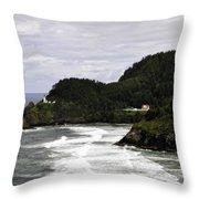 The Landscape Of Heceta Throw Pillow