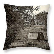 The Lane Sepia Throw Pillow