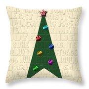 The Language Of Christmas Throw Pillow