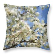 The Language Of Spring Throw Pillow