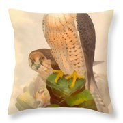 The Lanner Falcon Throw Pillow