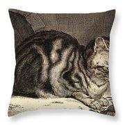 The Large Cat  Throw Pillow