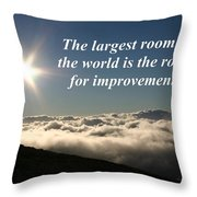 The Largest Room In The World Throw Pillow