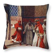 The Last Council Of Boabdil Throw Pillow