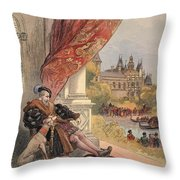 The Last Days Of Francis I Throw Pillow