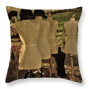 The Last Fashion Show- Old Mannequins Throw Pillow
