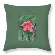 The Last Flower Throw Pillow
