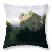 The Last Gleam Throw Pillow