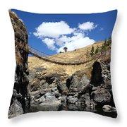 The Last Inca Rope Bridge Throw Pillow