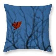 The Last Leaf Fell Throw Pillow