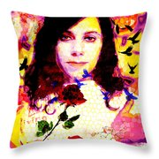 The Last Living Rose Throw Pillow