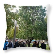 The Last Living Thing Pulled From The Rubble... The Survivor Tree Throw Pillow