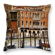 The Last Pigeon In Venice Throw Pillow