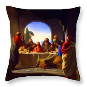 The Last Supper By Carl Heinrich Bloch Throw Pillow