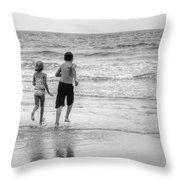 The Last Wave Throw Pillow