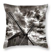 The Last Windmill Throw Pillow