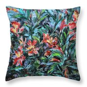 The Late Bloomers Throw Pillow by Xueling Zou