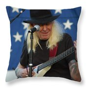The Late Great Johnny Winter Throw Pillow
