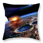 The Late Heavy Bombardment Throw Pillow